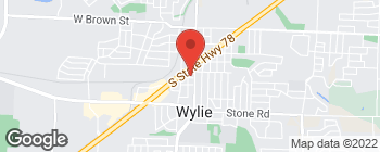 Map of 303 S Jackson Ave in Wylie