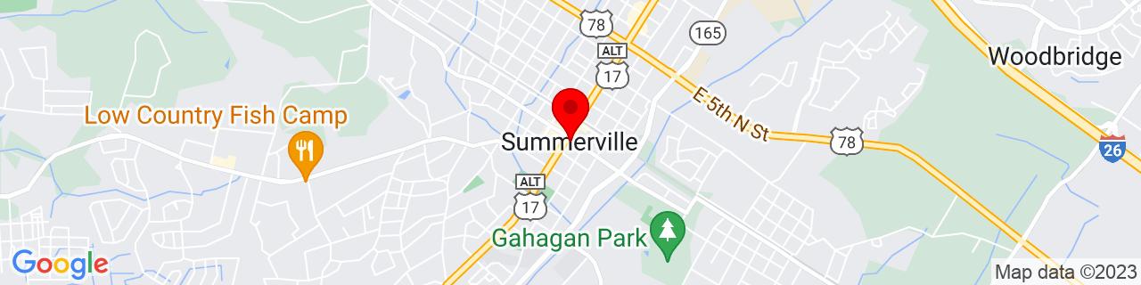 Google Map of 33.0185039, -80.17564809999999