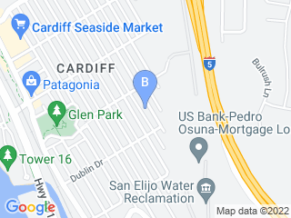 Map of Lovepuppy Dog Boarding options in Encinitas | Boarding
