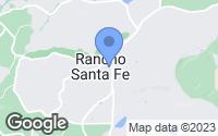 Map of Rancho Santa Fe, CA