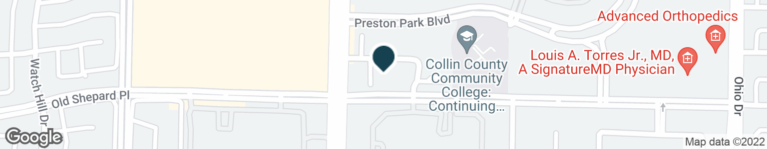 Google Map of1600 PRESTON RD