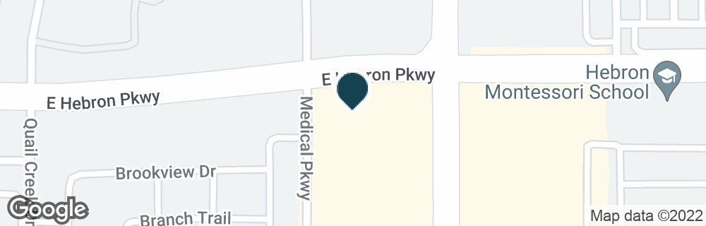 Google Map of1804 E HEBRON PKWY