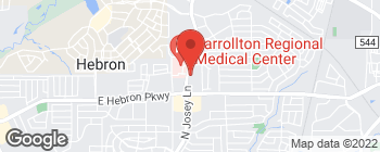Map of 4300 N Josey Ln in Carrollton