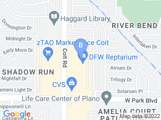 Map of Metro Pet Services Dog Boarding options in Plano | Boarding