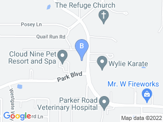 Map of Cloud Nine Pet Resort Dog Boarding options in Wylie | Boarding