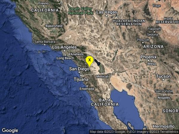 earthquake 19km ESE of Julian, CA