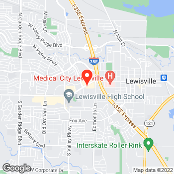Map of Pizza in Lewisville, TX – Cicis Pizza at 724 W. Main Street, Lewisville, TX 75067