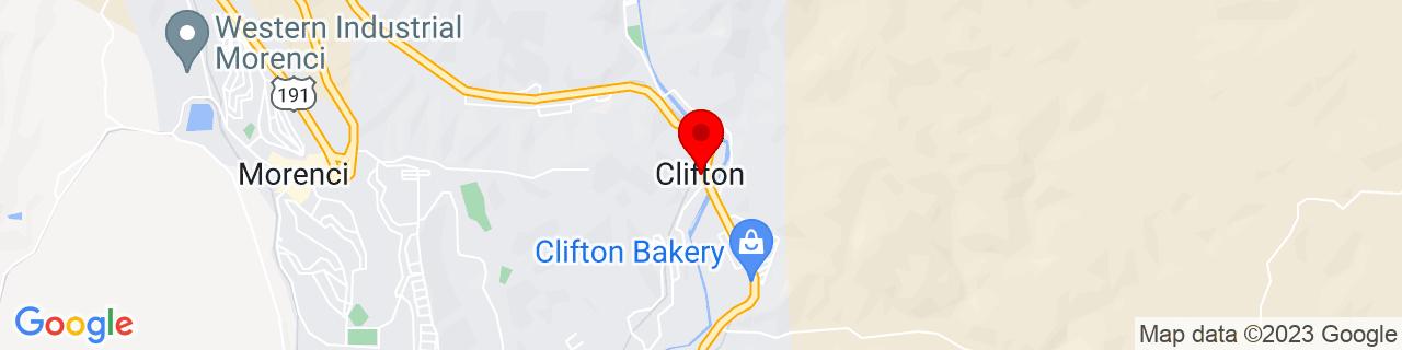 Google Map of 33.05083333333333, -109.2961111111111