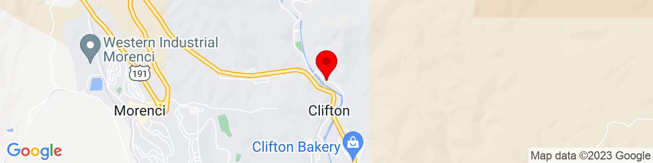 Google Map of 33.0550678, -109.2966452