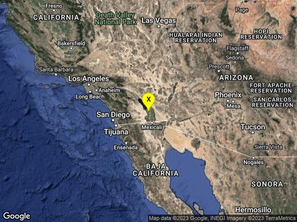 earthquake 4km NE of Westmorland, CA