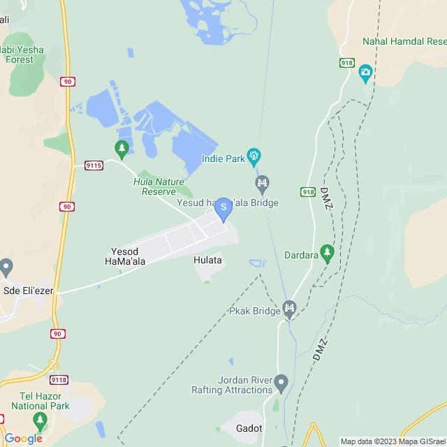 האגם 5, יסוד המעלה, ישראל