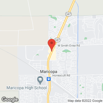 Map of Janna Roberts, NP at 20928 N John Wayne Parkway, Maricopa, AZ 85139