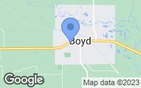 Map of Boyd, TX