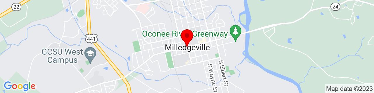 Google Map of 33.08027777777778, -83.23222222222222
