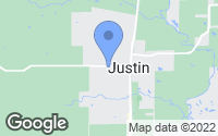Map of Justin, TX