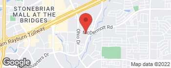 Map of 4670 McDermott Rd in Plano