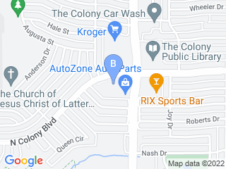 Map of North Colony Animal Clinic Dog Boarding options in The Colony | Boarding