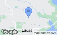 Map of Lucas, TX