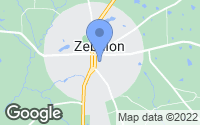 Map of Zebulon, GA