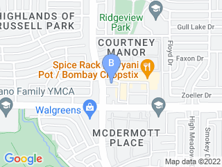 Map of Russell Creek Pet Clinic Dog Boarding options in Plano | Boarding