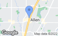 Map of Allen, TX