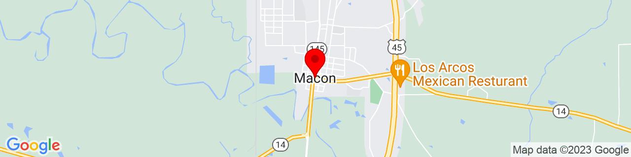 Google Map of 33.1054039, -88.5608767
