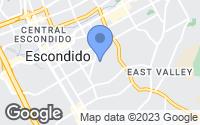 Map of Escondido, CA