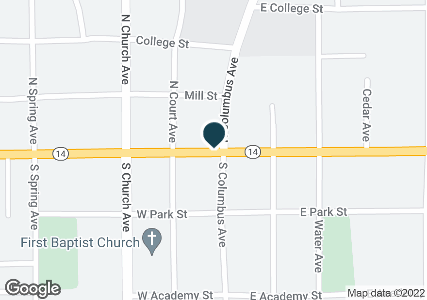 Google Map of16560 W MAIN ST