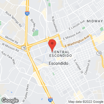 Map of Check `n Go at 505 West Washington Blvd., Escondido, CA 92025