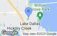 Map of Lake Dallas, TX