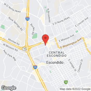 Map of Denny's de Escondido at 510 W. Mission Ave, Escondido, CA 92025