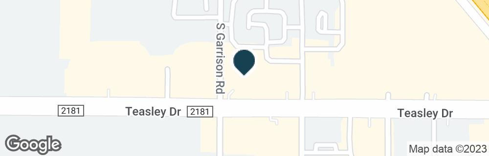 Google Map of4001 FM 2181