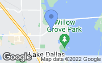 Map of Lake Dallas, TX