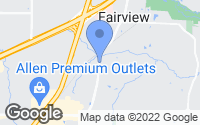 Map of Fairview, TX