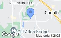 Map of Corinth, TX