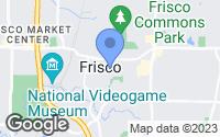 Map of Frisco, TX