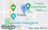 Map of Frisco, TX