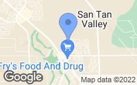 Map of San Tan Valley, AZ