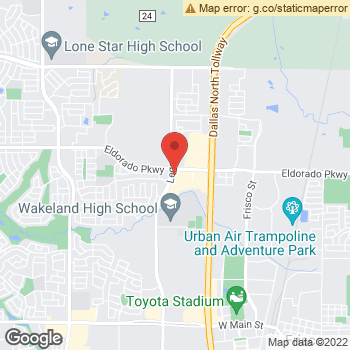 Map of Yeh Eye Care at 11550 Legacy Drive, Frisco, TX 75033