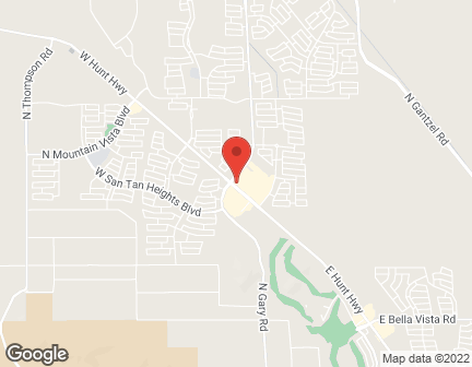 Mapa de 1758 W. Hunt Highway en San Tan Valley