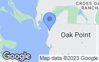 Map of Oak Point, TX