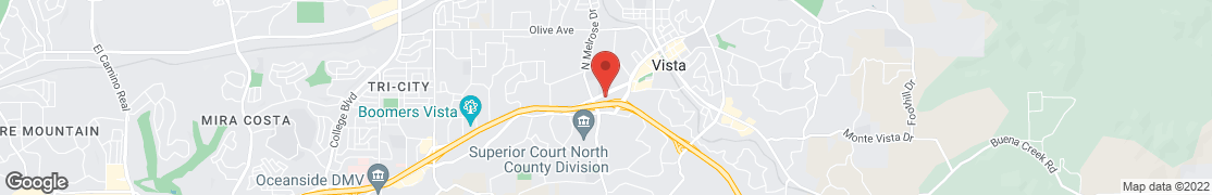 Map of 540 W Vista Way in Vista