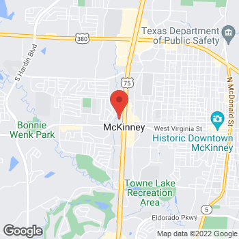 Map of Prosperity Bank McKinney at 321 N Central Expy, McKinney, TX 75070