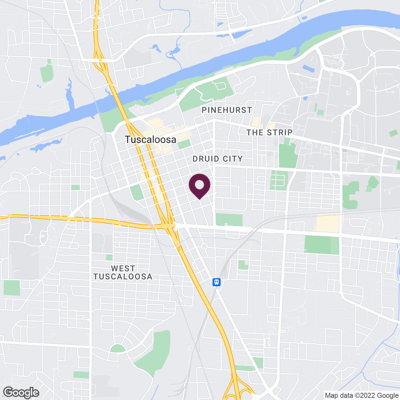 Google Maps static image of Tuscaloosa, AL