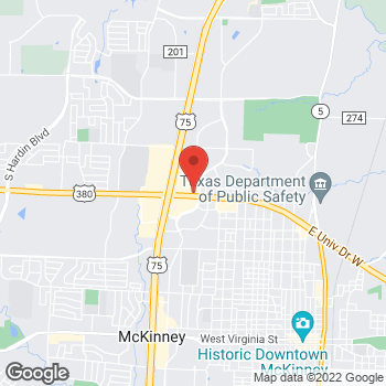 Map of Arby's at 1706 West University Drive, Mckinney, TX 75069