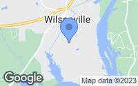 Map of Wilsonville, AL
