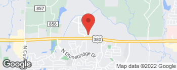 Map of 7200 W University Dr in McKinney