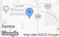 Map of Denton, TX