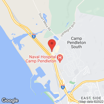 Map of Panera Bread at Building 20845, Camp Pendleton South, CA 92055