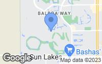 Map of Sun Lakes, AZ